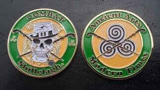 bata, bataireacht, shillelagh, blackthorn, challenge coin, irish stick fighting